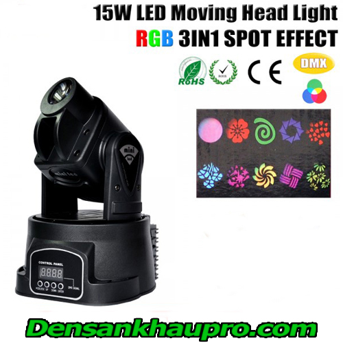 đèn moving head mini 15w rgb