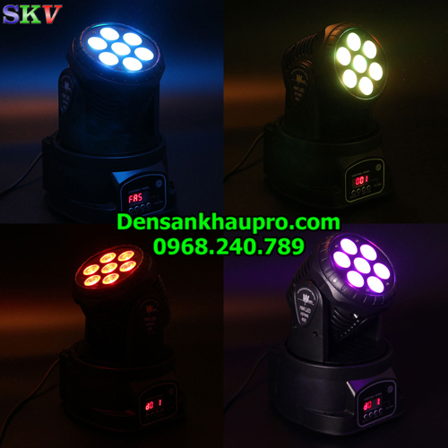 đèn moving mini 7x12w, đèn moving mini phòng karaoke